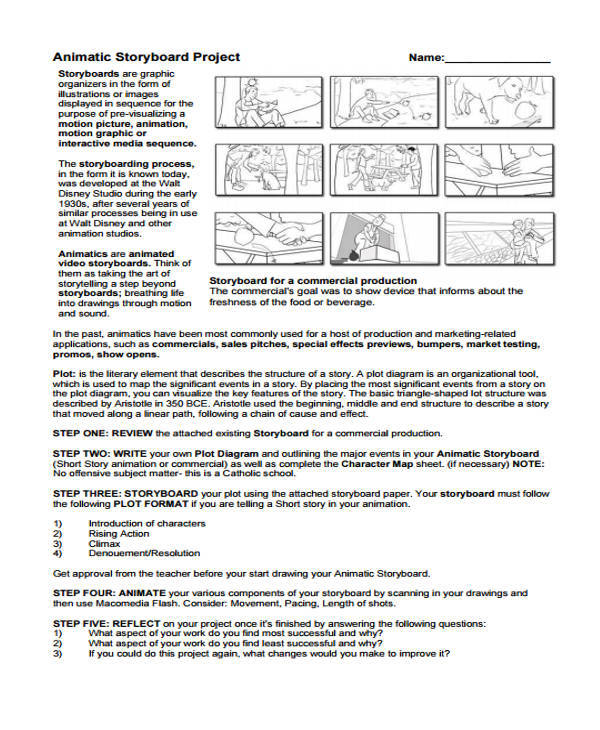 animatic project storyboard