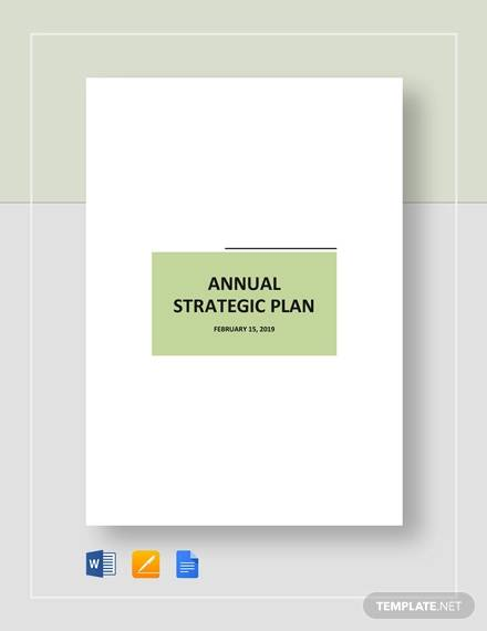 annual strategic plan template