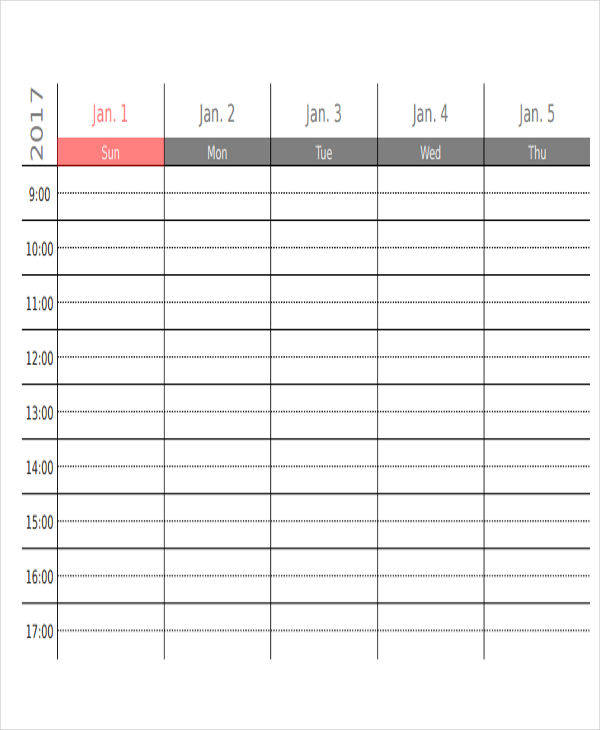 free 6  appointment calendar templates in ms word