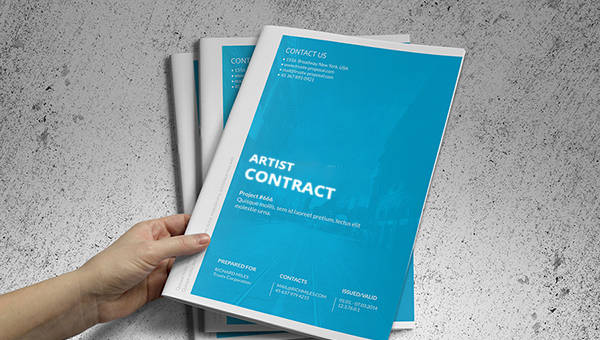 7+ Artist Contract Templates – Free Sample, Example, Format Download ...