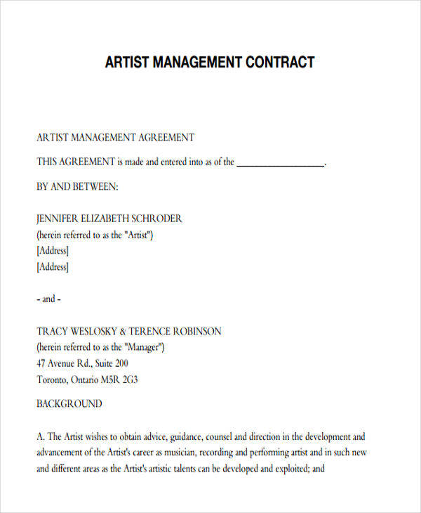artist management contract4
