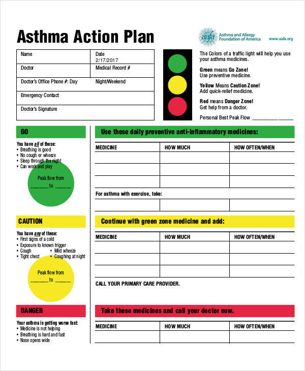 asthma business plan