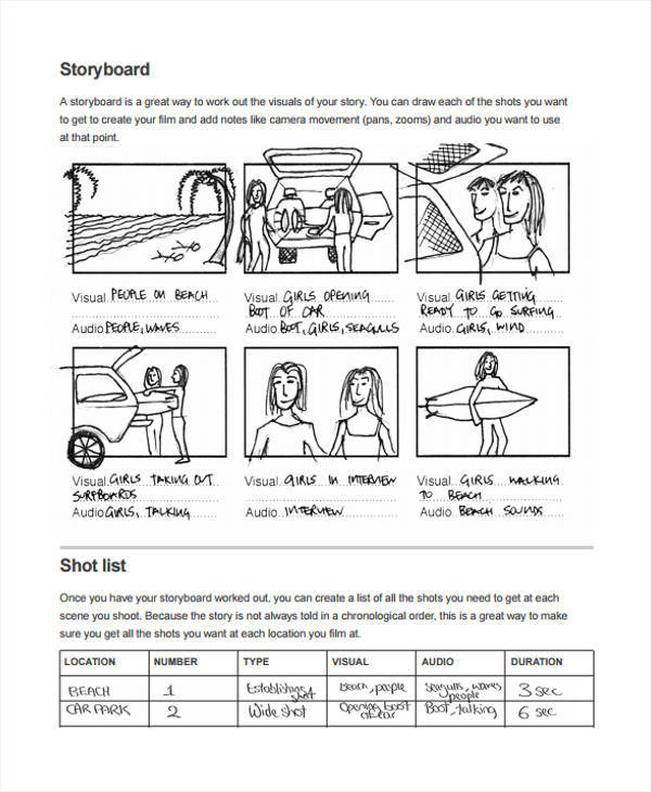 5+ Visual Storyboard Sample – Examples in Word, PDF | Sample Templates