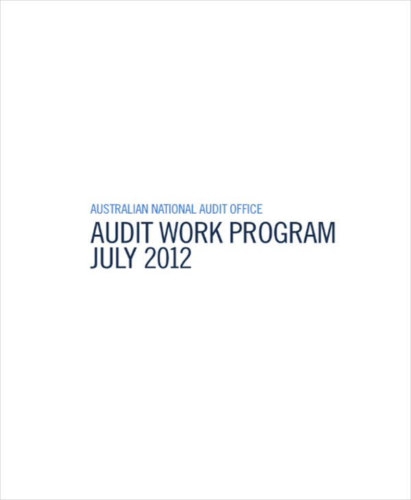 how to develop audit program