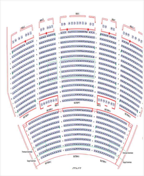 auditorium seating chart1