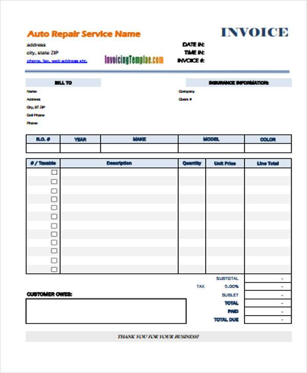 14  simple invoice templates