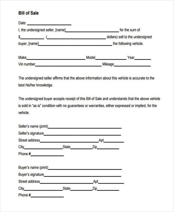 automotive sales receipt