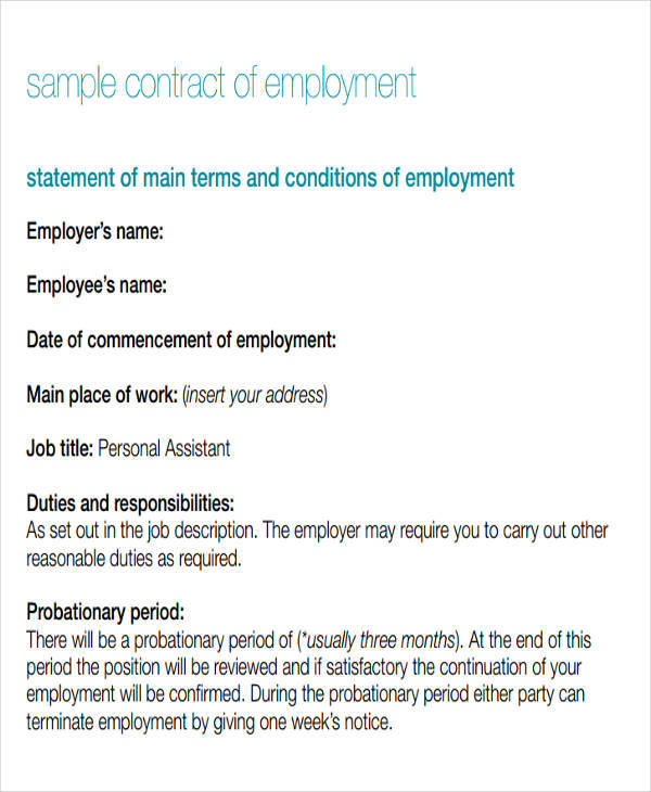 basic employment contract1