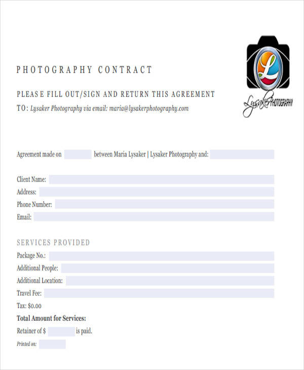 basic photography contract1
