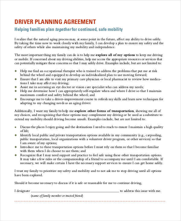 basic planner contract