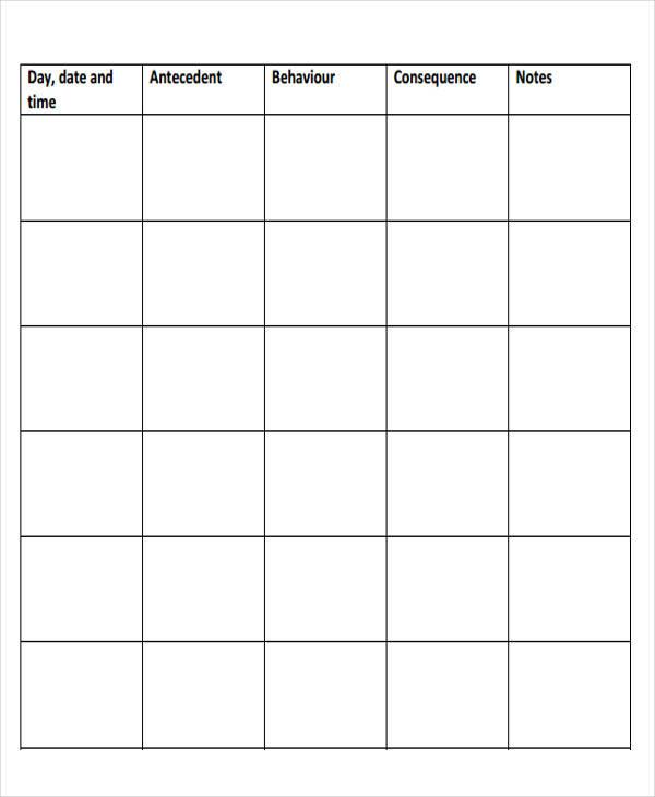 behavior chart template1