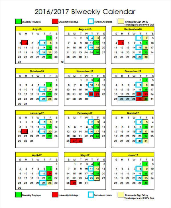 biweekly calendar2
