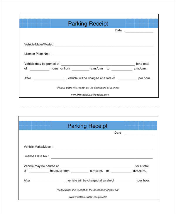 write a receipt template