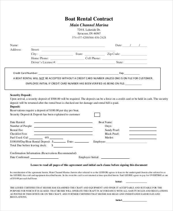 boat rental contract2