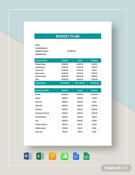 free 11  budget plan samples in pdf