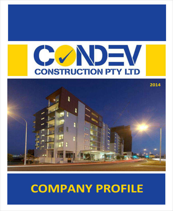 25 company profile samples pdf sample templates for House construction companies
