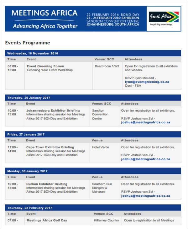 business event program