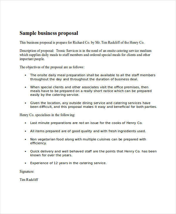 business event proposal letter