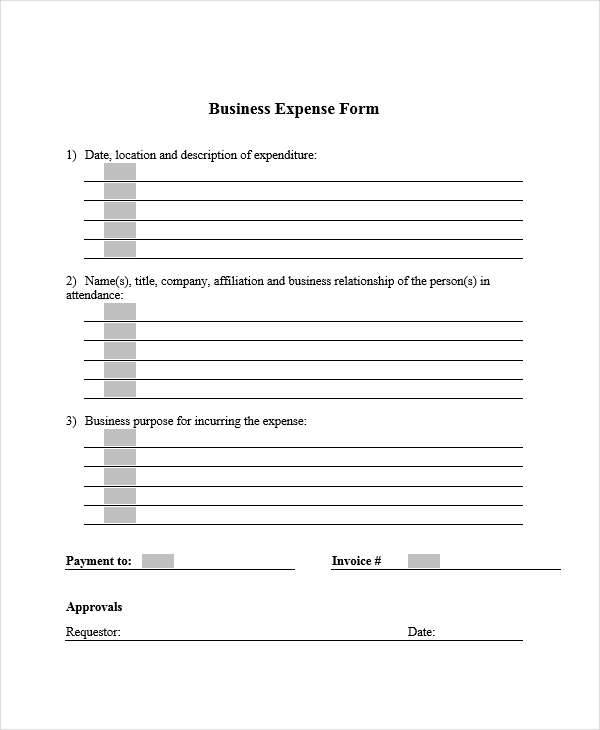 7  expense receipt template