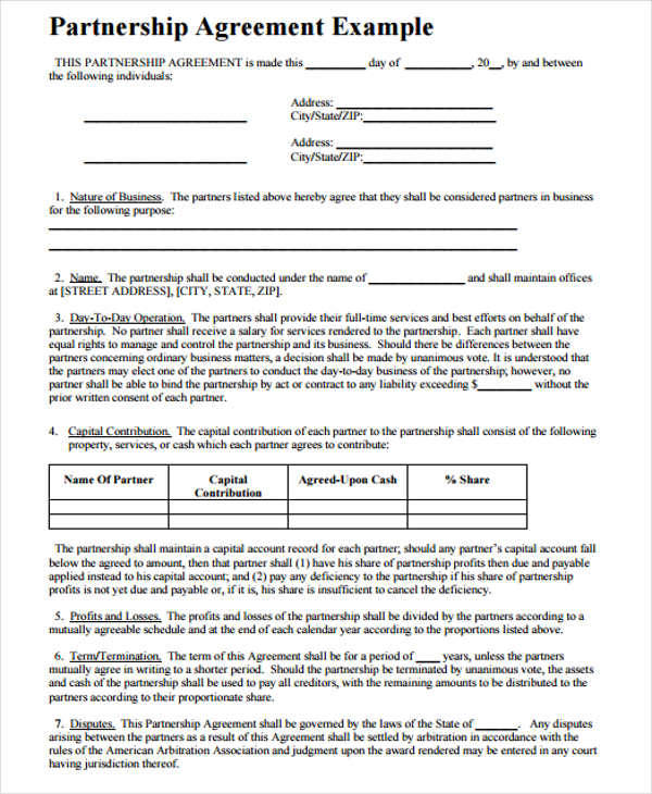 Business Contract Template  Free Sample Example Format Download