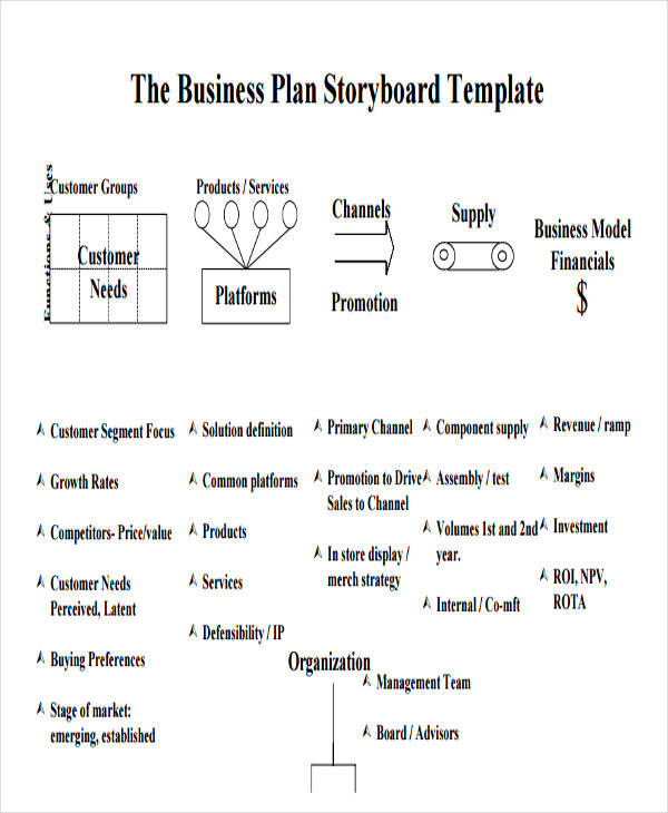 business plan storyboard