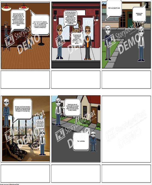 Storyboard For Website Design: 36 Sample Professional Storyboard Templates