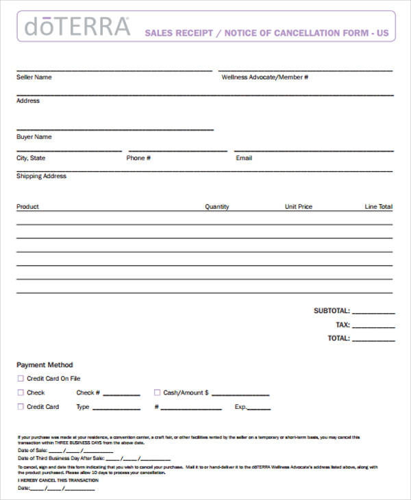 11 business receipt templates examples in word pdf