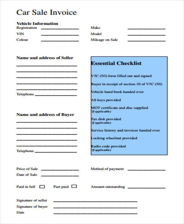 car payment receipt format2