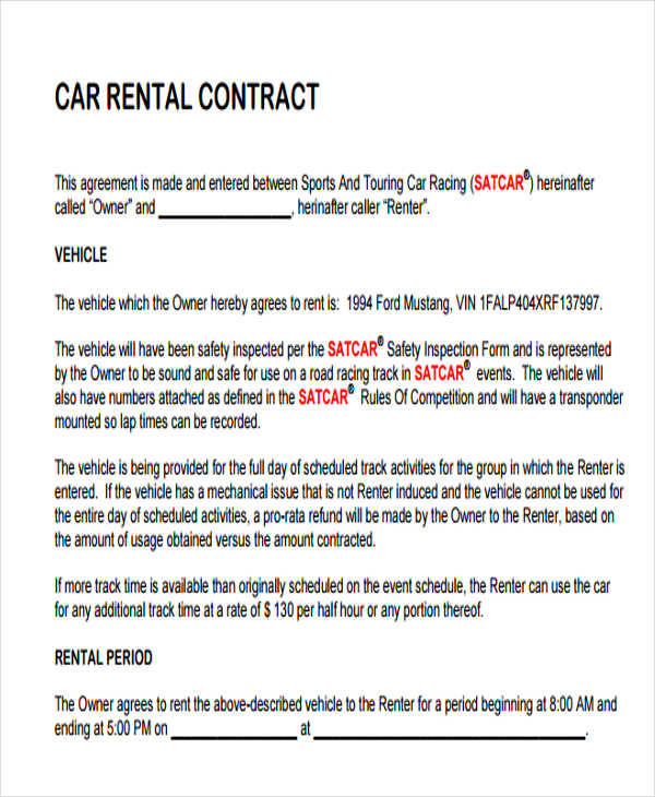 car rental contract4
