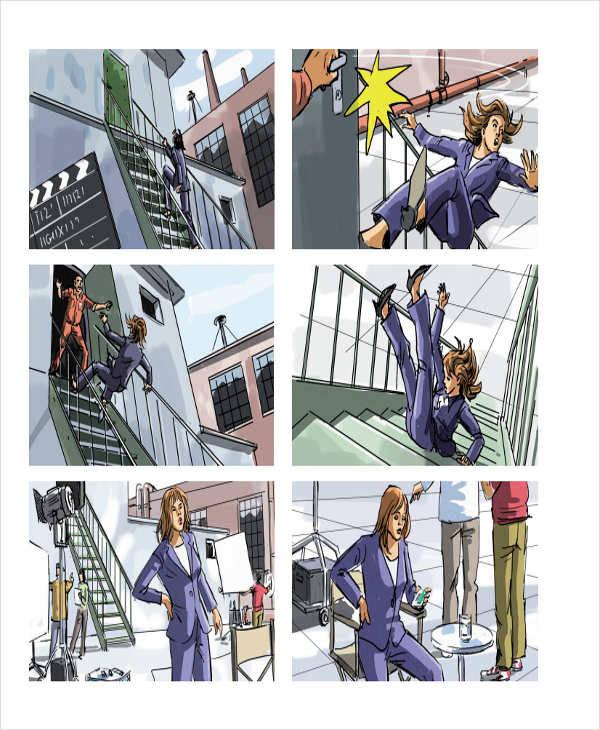 cartoon animation storyboard