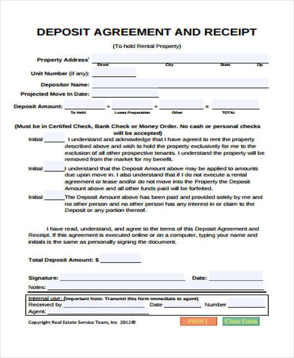 Cash Down Payment Receipt  Down Payment Receipt Form