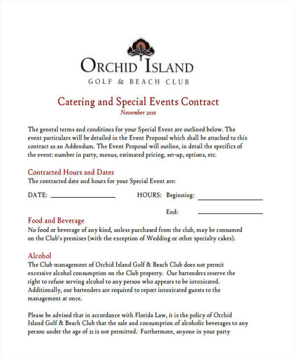6+ Catering Proposal Template - Examples In Word, Pdf