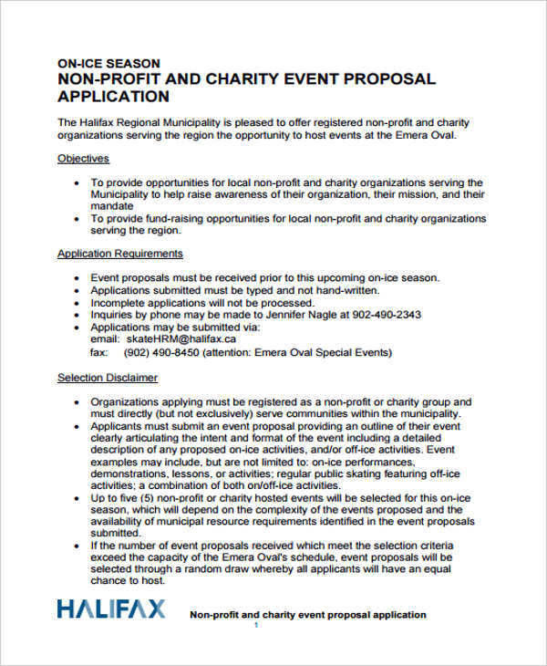Charity Event Proposal Application