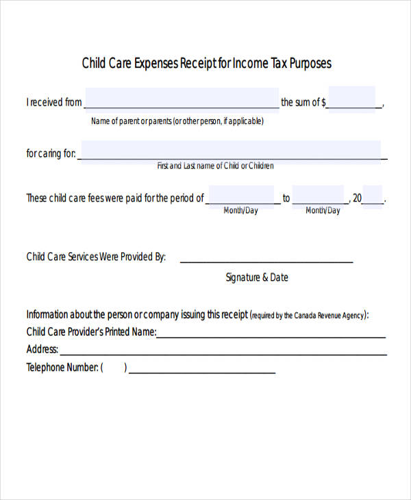 Top Result 46 Fresh Child Care Receipt Template Photography 2017