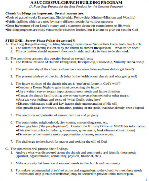 Church Program Samples  Free Sample Example Format Download