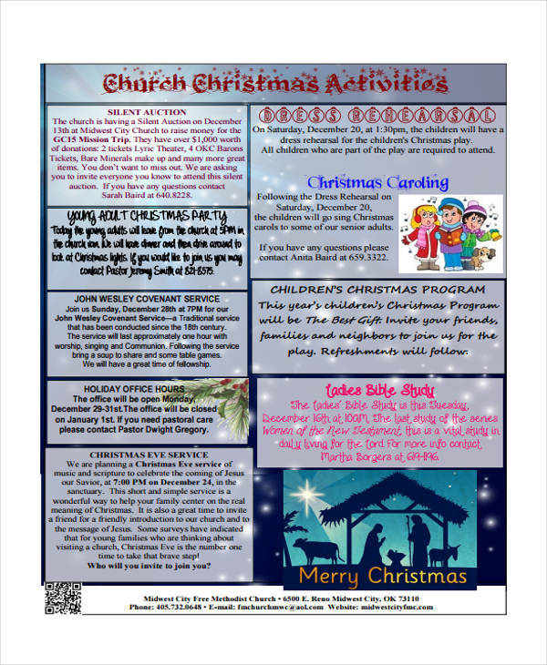 church christmas activities