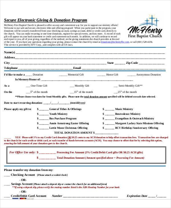 church donation program1