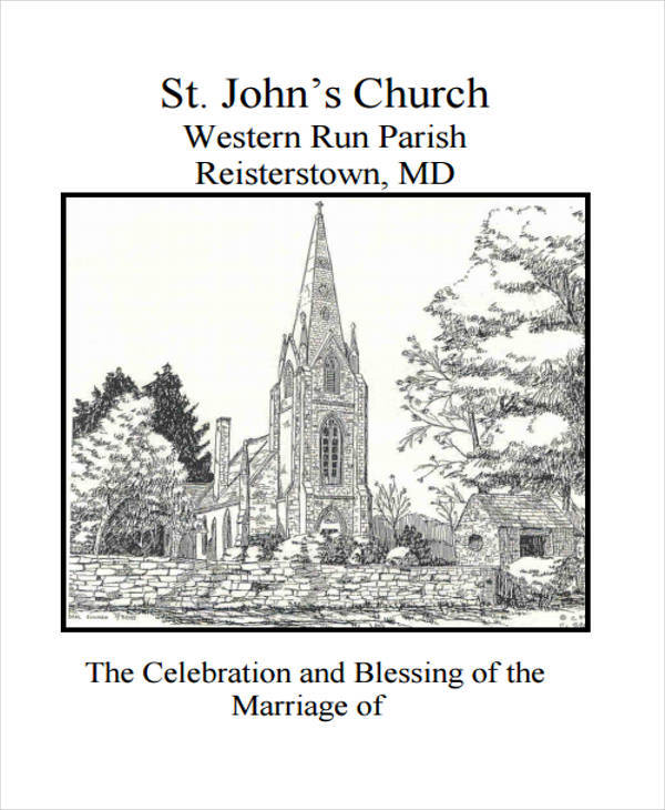 church wedding program