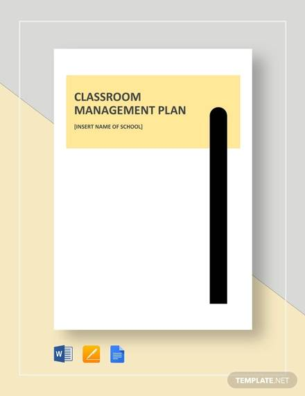 classroom management plan example