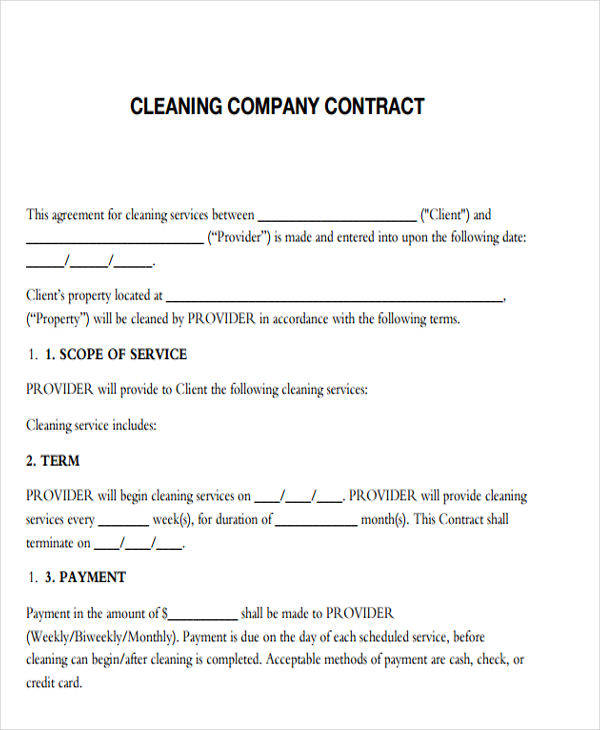 cleaning company contract1