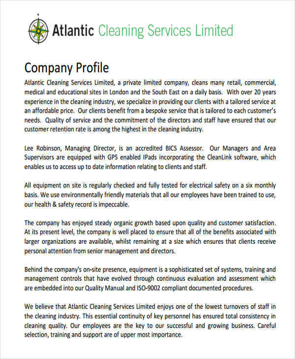 Company Profile Samples  Templates In Pdf