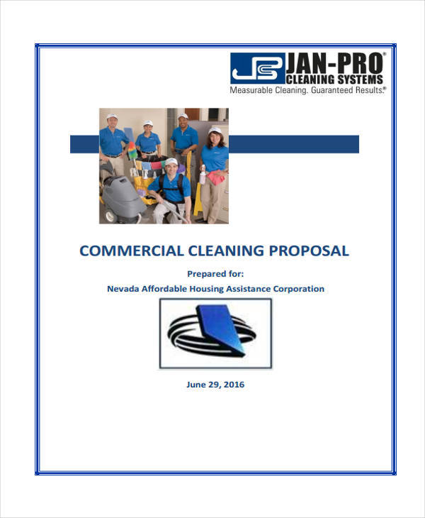 cleaning proposal contract