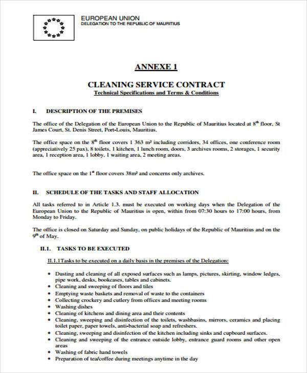 cleaning services contract1