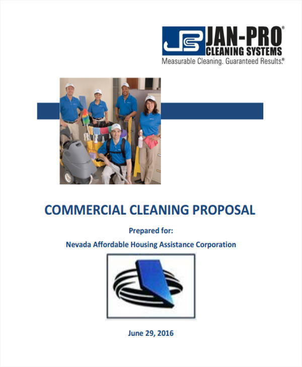 17  cleaning proposal templates