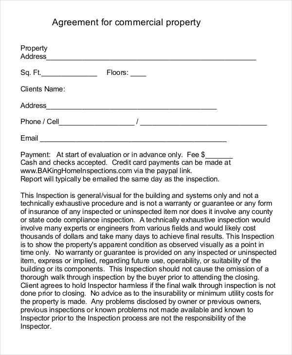 commerical property contract