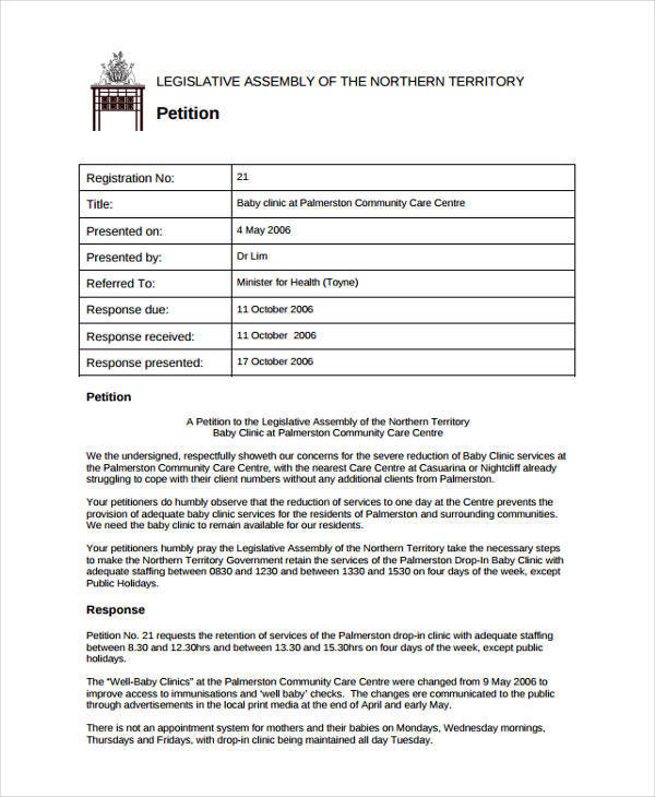 8 Community Petition - Free Sample, Example, Format Download