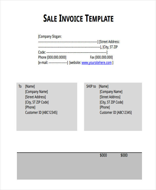 Sales Invoice Templates
