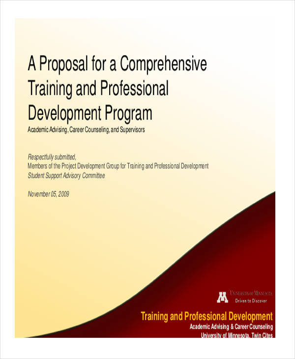 comprehensive training proposal