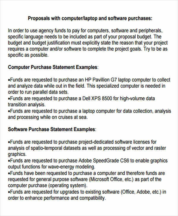 computer purchase proposal