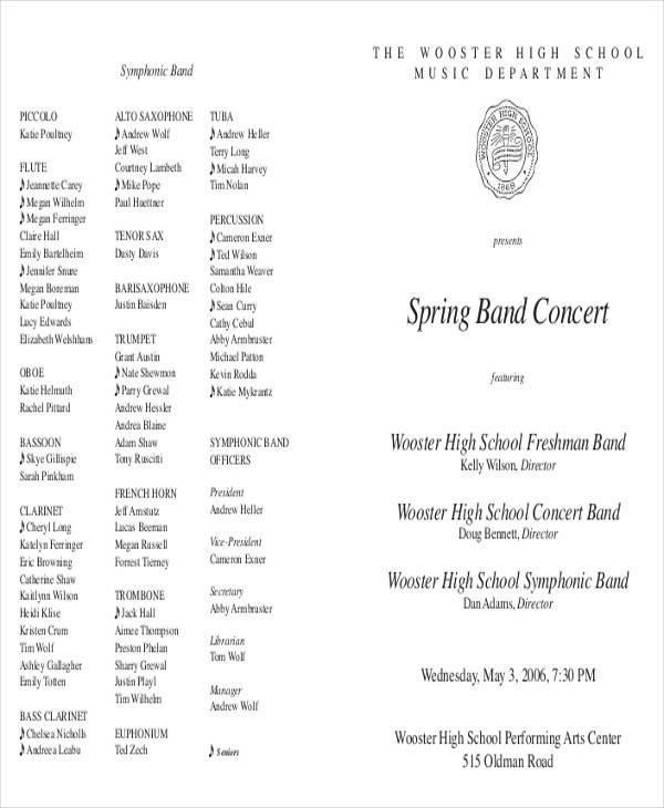 concert band program